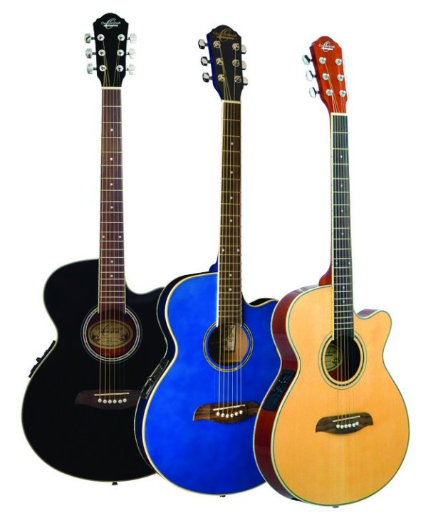 oscar schmidt thin body a e guitar. Black Bedroom Furniture Sets. Home Design Ideas