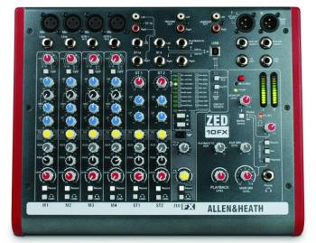 ZED 10 Channel Mini Mixer With Effects (LL-ZED-10FX)