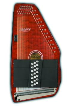 21 Chord Autoharp-Quilt Top Trans Red (OS-OS21CQTR)