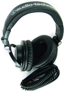 Monitor Headphones with Coiled Cable (AI-ATH-M50)