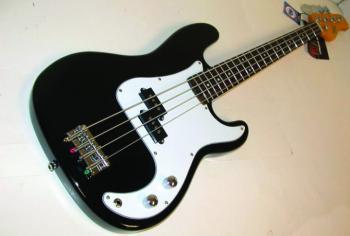 Precision Style Electric Bass Guitar in Transparent Black (OS-OSB400CTBK)